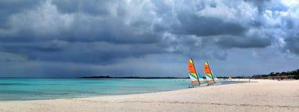 Panorami del mare e delle isole Fotografia Stock