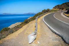 Panorami droga w souyh Sardinia Zdjęcie Stock