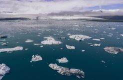 Panorami islandesi, vista aerea sulle terre fotografie stock