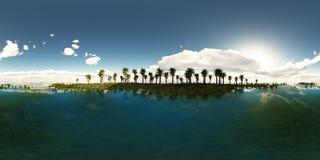 Panoramia tropikalna plaża Obraz Royalty Free
