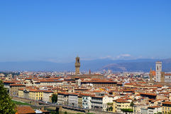 Panoramic. View from Michelangelo of Florence Stock Photos