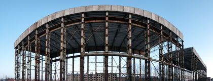 Panoramic abandoned construction Royalty Free Stock Photo