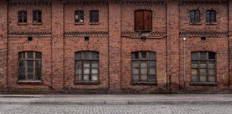 Panoramic abandoned urban background stock image