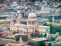 Panoramic aeral view of St Paul Cathedral ancient landmark, Lond Stock Photos