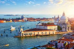 Venice Italy. Top view at Cathedral stock images