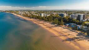 Panoramic aerial image of Sutton Beach area, Redcliffe, Brisbane stock video