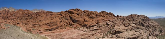 Panoramic aerial scenic view of rock formations at Red Rock Canyon royalty free stock photos