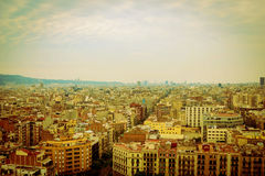 Panoramic aerial view of Barcelona, Spain Royalty Free Stock Photo