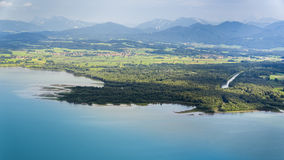 Panoramic aerial view Bavaria Royalty Free Stock Photos