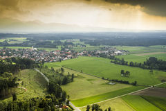 Panoramic aerial view Bavaria Stock Image