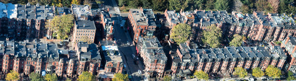 Panoramic aerial view of Boston avenue and streets. Classic home Stock Photo
