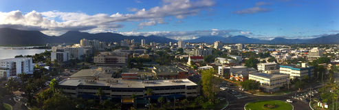 Panoramic aerial view of Cairns Queensland Australia Stock Photography