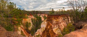 Panorama of canyons in Providence Canyon State Park, Georgia, USA Stock Photography