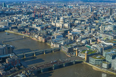 Panoramic aerial view of The City of London Royalty Free Stock Photos