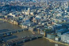 Panoramic aerial view of The City of London Royalty Free Stock Photography