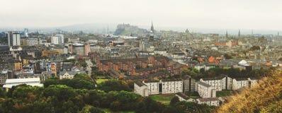 Panoramic aerial view of Edinburgh Stock Images