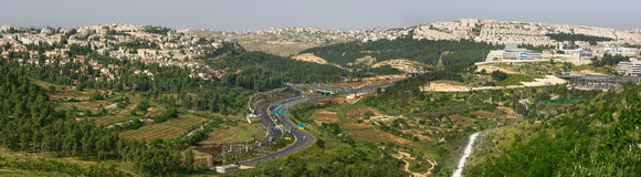 Panoramic aerial view on Jerusalem. royalty free stock photo