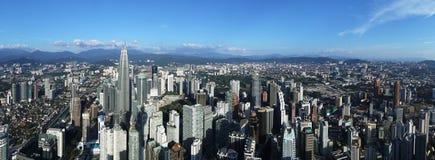 Panoramic aerial view of Kuala Lumpur city, Malaysia Stock Photos
