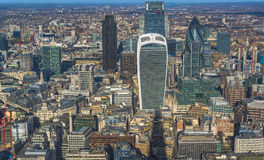 Panoramic aerial view of London Stock Photos