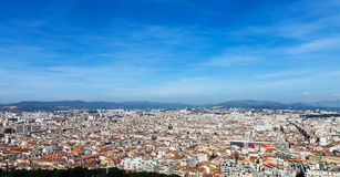 Panoramic aerial view on Marseille from mountain Royalty Free Stock Photo