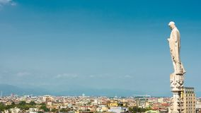 Panoramic aerial view of Milan, Italy stock images