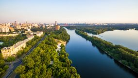 Panoramic aerial view of Moscow, Russia stock photos