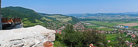 Panoramic and aerial view of one part at the city of Deva Royalty Free Stock Photos