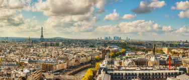 Panoramic aerial view of Paris Royalty Free Stock Image