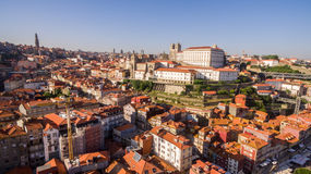 Panoramic aerial view of Porto in a beautiful summer day, Portugal royalty free stock photo