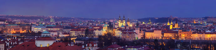 Panoramic aerial view of Prague Stock Photography