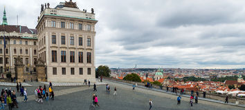 Panoramic aerial view of Prague from Prague Castle Royalty Free Stock Photo