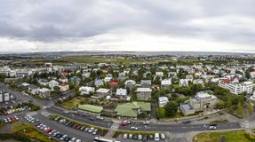 Panoramic aerial view of Reykjavik city, Iceland Stock Photography