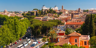 Panoramic aerial view of Rome, Italy Royalty Free Stock Photos
