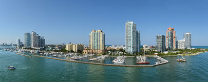 Panoramic Aerial View of South Miami Beach Stock Photos