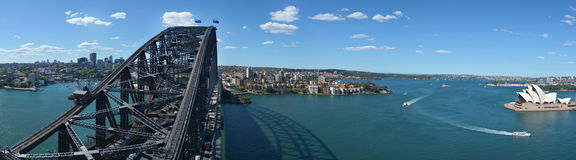 Panoramic Aerial view of Sydney Harbour Sydney  New South Wales Stock Image