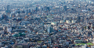 Panoramic aerial view of Tokyo residence area Royalty Free Stock Photos