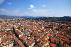Panoramic Aerial view from the top of Florence cathedral Stock Images