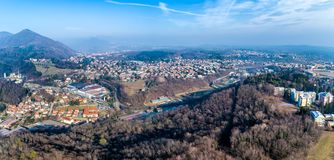 Panoramic aerial view of Varese, Italy Stock Photos