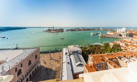 Panoramic aerial view of Venice. Italy. Stock Image