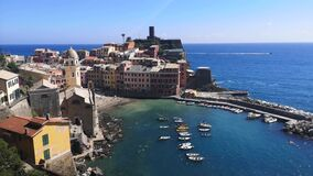 Panoramic aerial view of Vernazza