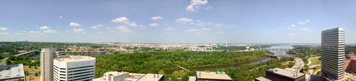 Panoramic aerial view of Washington D.C. Royalty Free Stock Photos