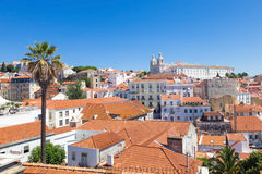 Panoramic of Alfama rooftops, Lisboa Stock Photography