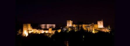 Panoramic of Alhambra. stock photos
