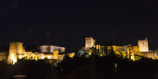 Panoramic of Alhambra. Stock Images