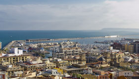 Panoramic of Alicante Royalty Free Stock Images