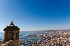 Panoramic of Alicante Stock Images