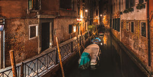 Panoramic Alley of Venice Royalty Free Stock Images
