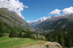 Panoramic Alpine landscape Stock Photos