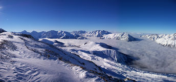 Panoramic Alps view Stock Image