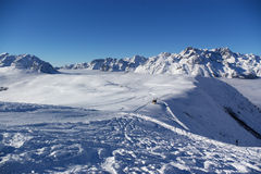 Panoramic Alps view Stock Photos